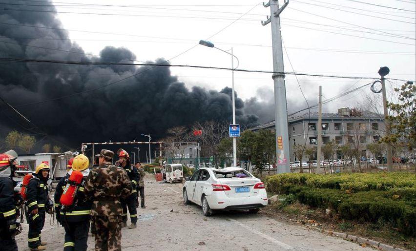 Shpërthim në impiantin kimik në Kinë