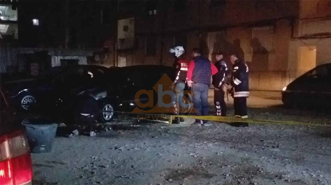 Digjet një makinë në Vlorë