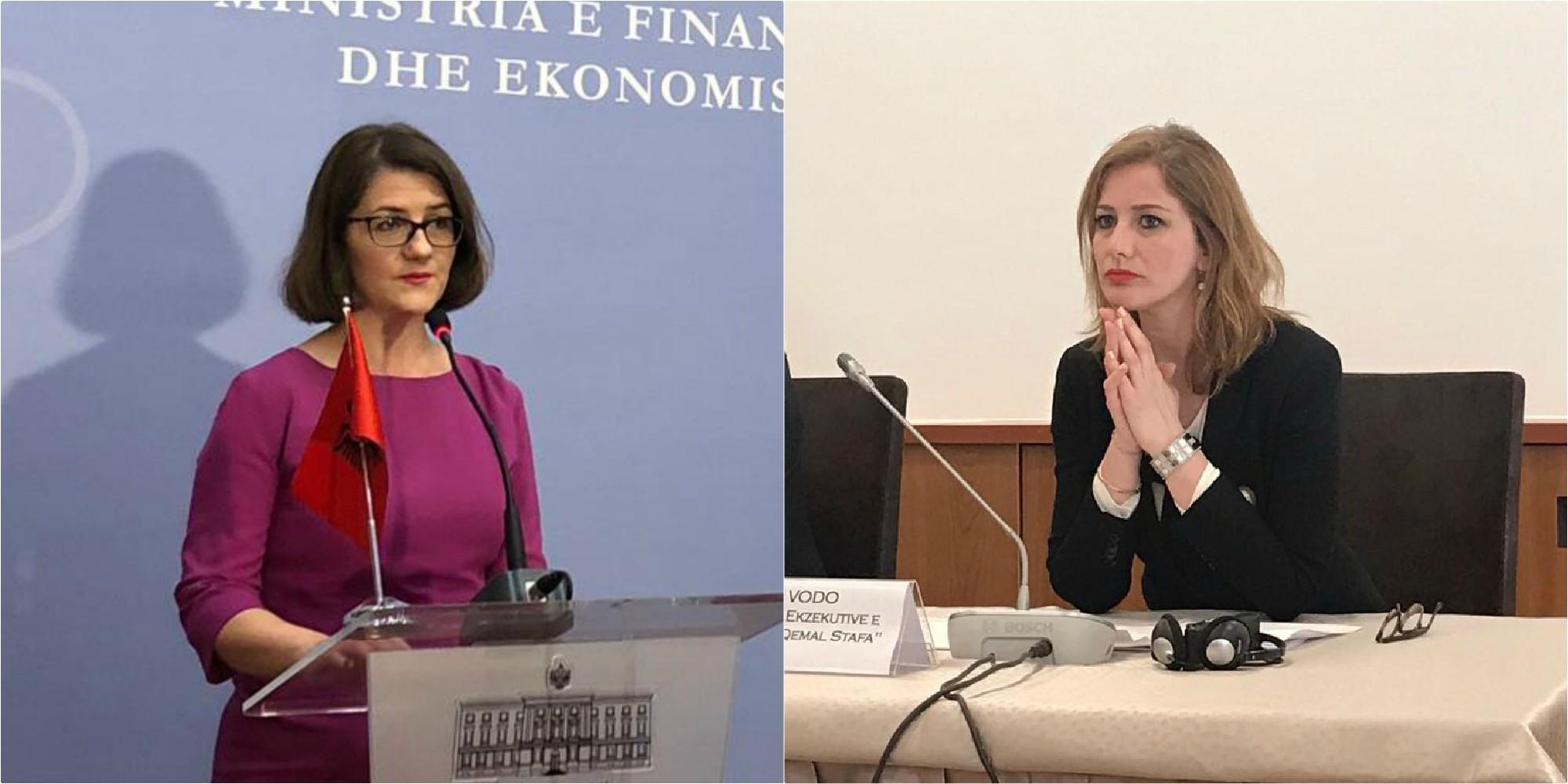 """Dy zonja """"braktisin"""" qeverinë, Teuta Vodo dhe Albana Shkurta"""