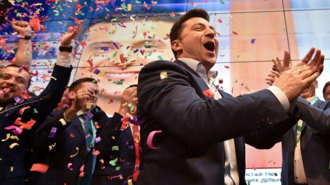 Ukrainë, komediani zgjidhet President