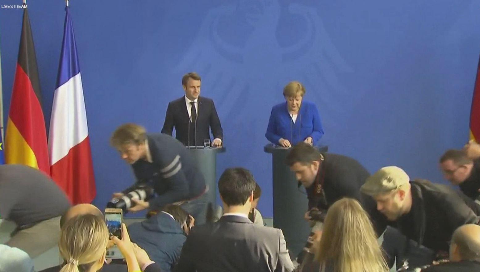 Çështja mes Kosovës dhe Serbisë, Merkel dhe Macron thonë fjalën e tyre
