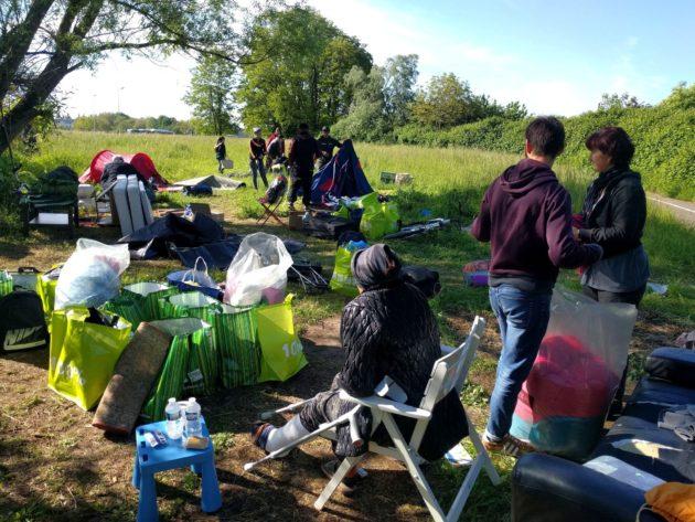 Çmontohet kampi i emigrantëve shqiptarë në Strasburg