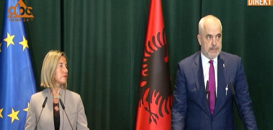 Mogherini: Arritjet e Shqipërisë, të paprecedenta në rajon