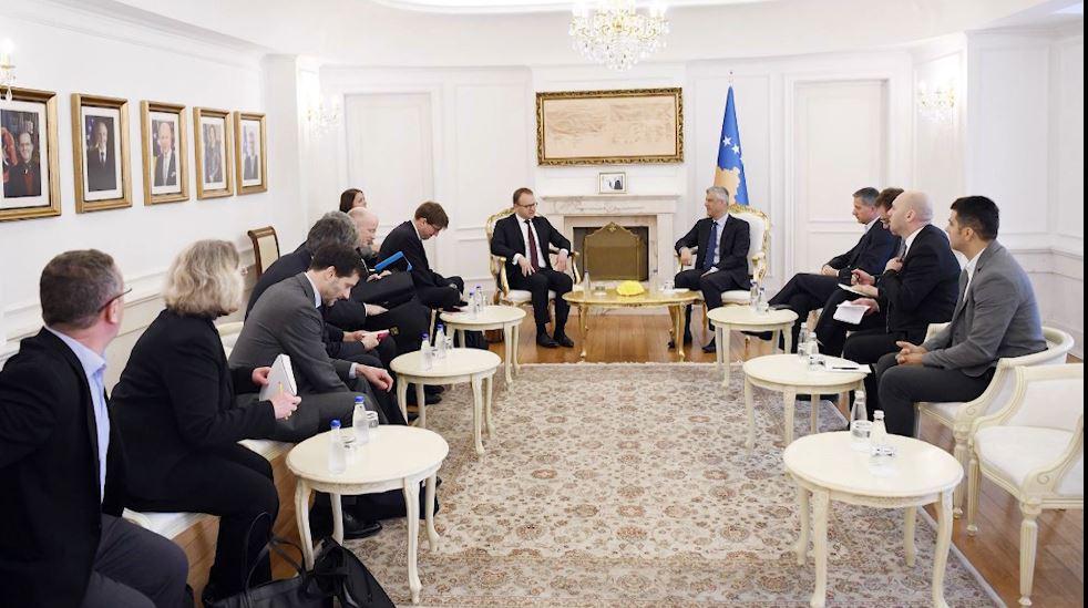 Delegacioni Franko-Gjerman në Prishtinë, takime me krerët e shtetit kosovar