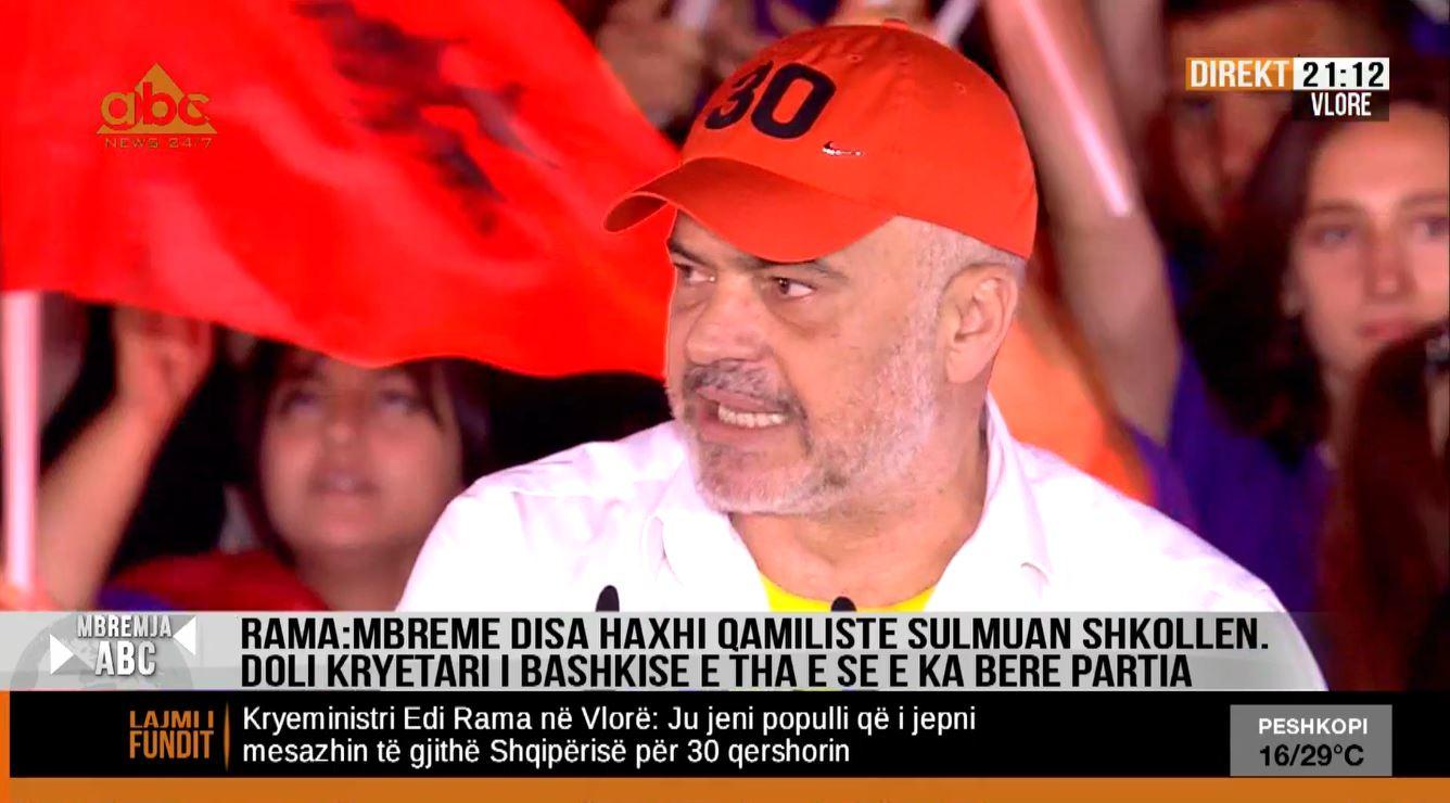 Rama mbyll fushatën në Vlorë: Nëvitin2019u përsërithistoriaeHaxhiQamilit