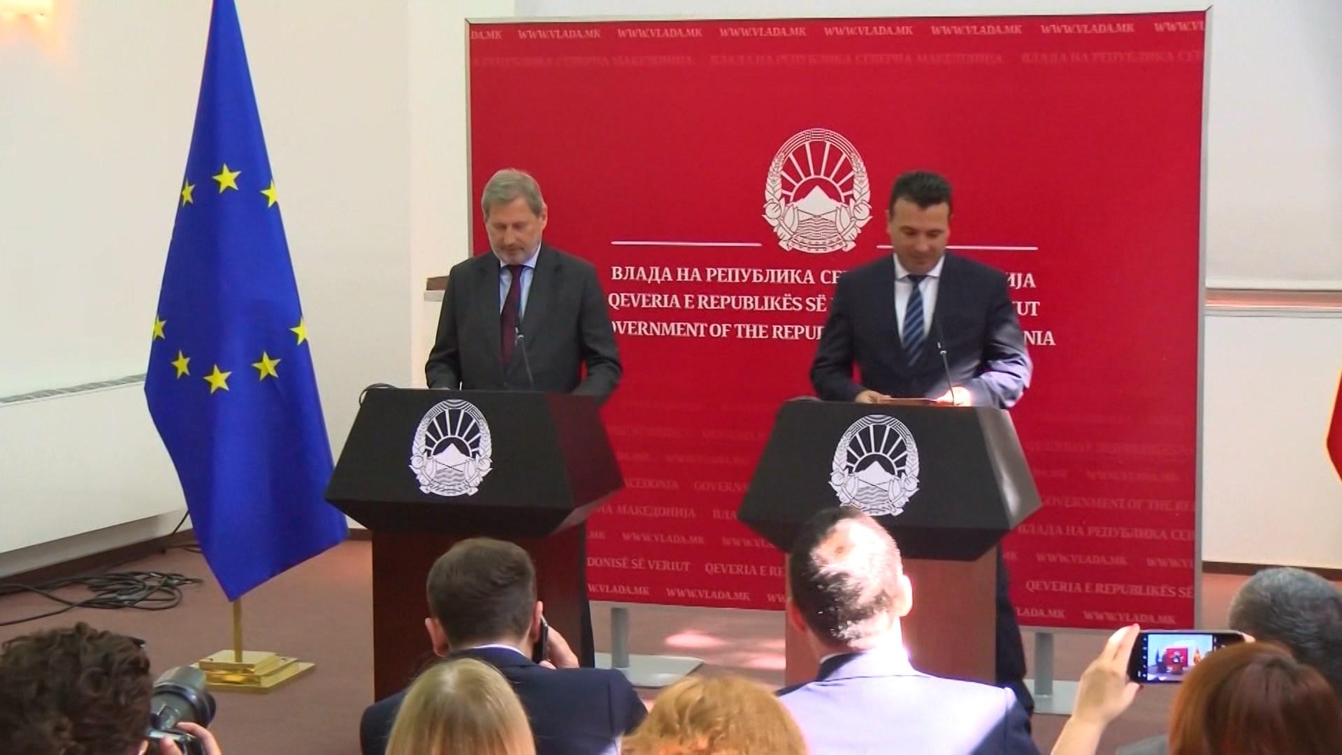 Hahn: Në tetor Maqedonia e Veriut do të marrë datën për hapjen e negociatave