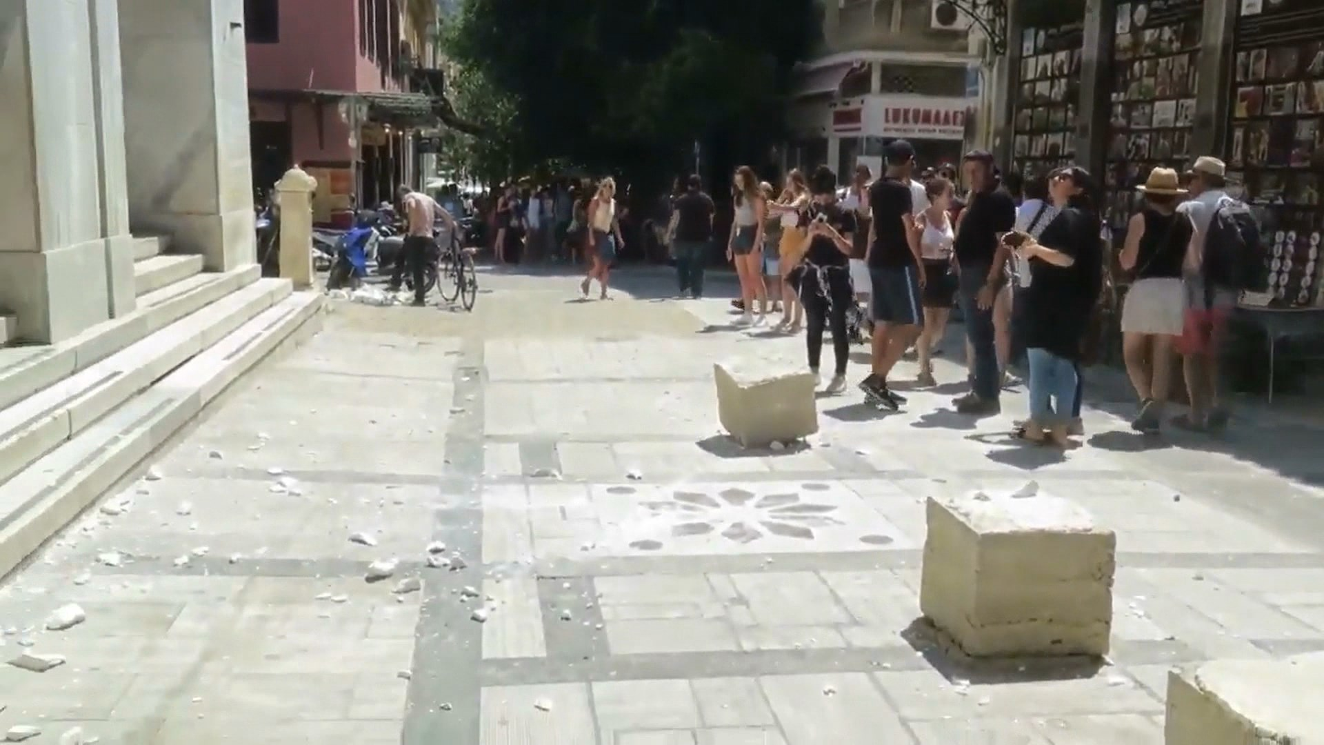Tërmet i fuqishëm 5.1 ballë i shkallës Rihter trondit Athinën