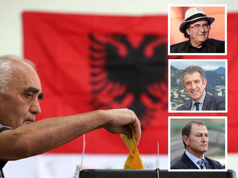 VIP-at Italo-shqiptarë, Al Bano, Greggio, De Biasi, votues pa dijeni në Shqipëri