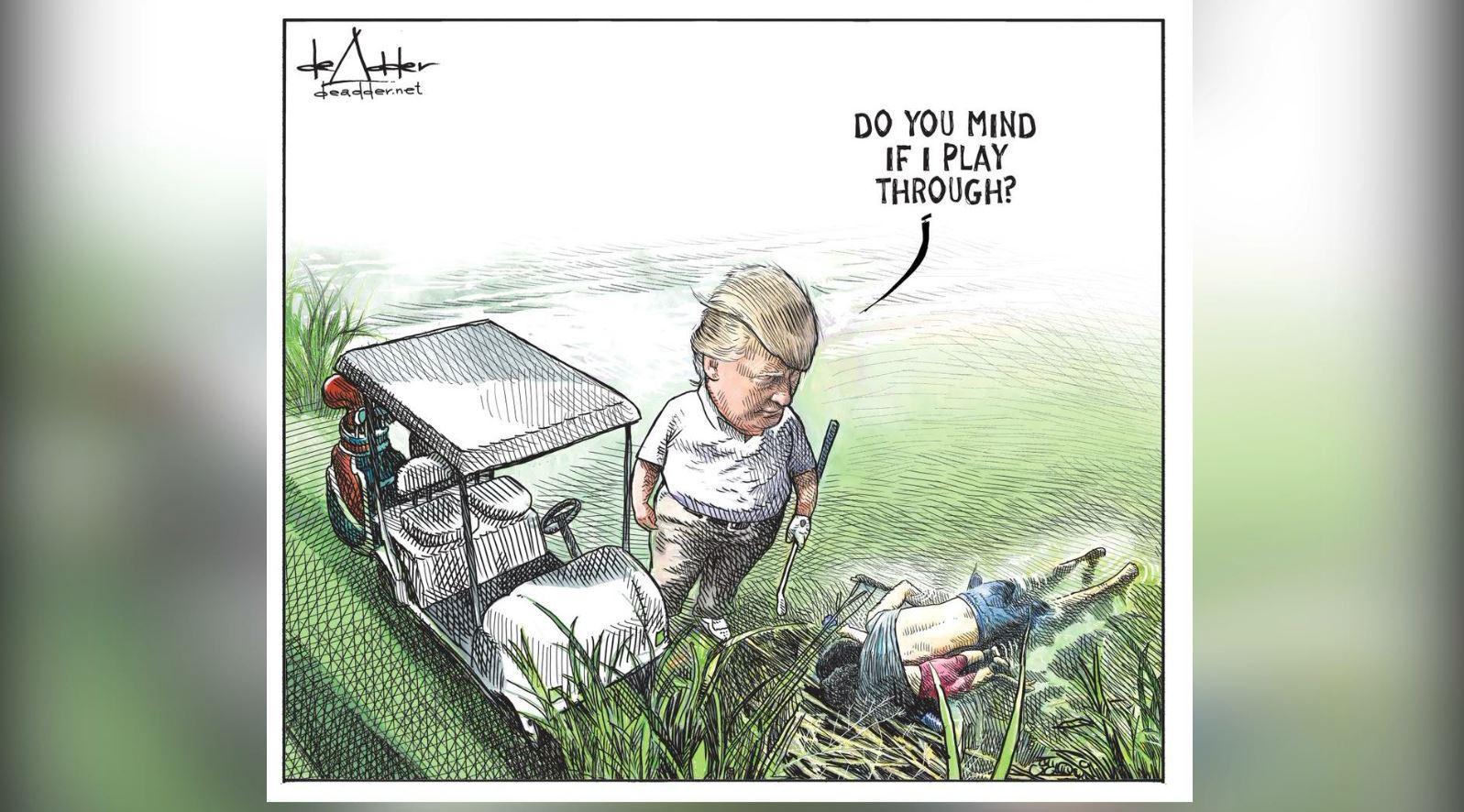 """""""Karikatura e Trump"""" pushon nga puna satiristin"""