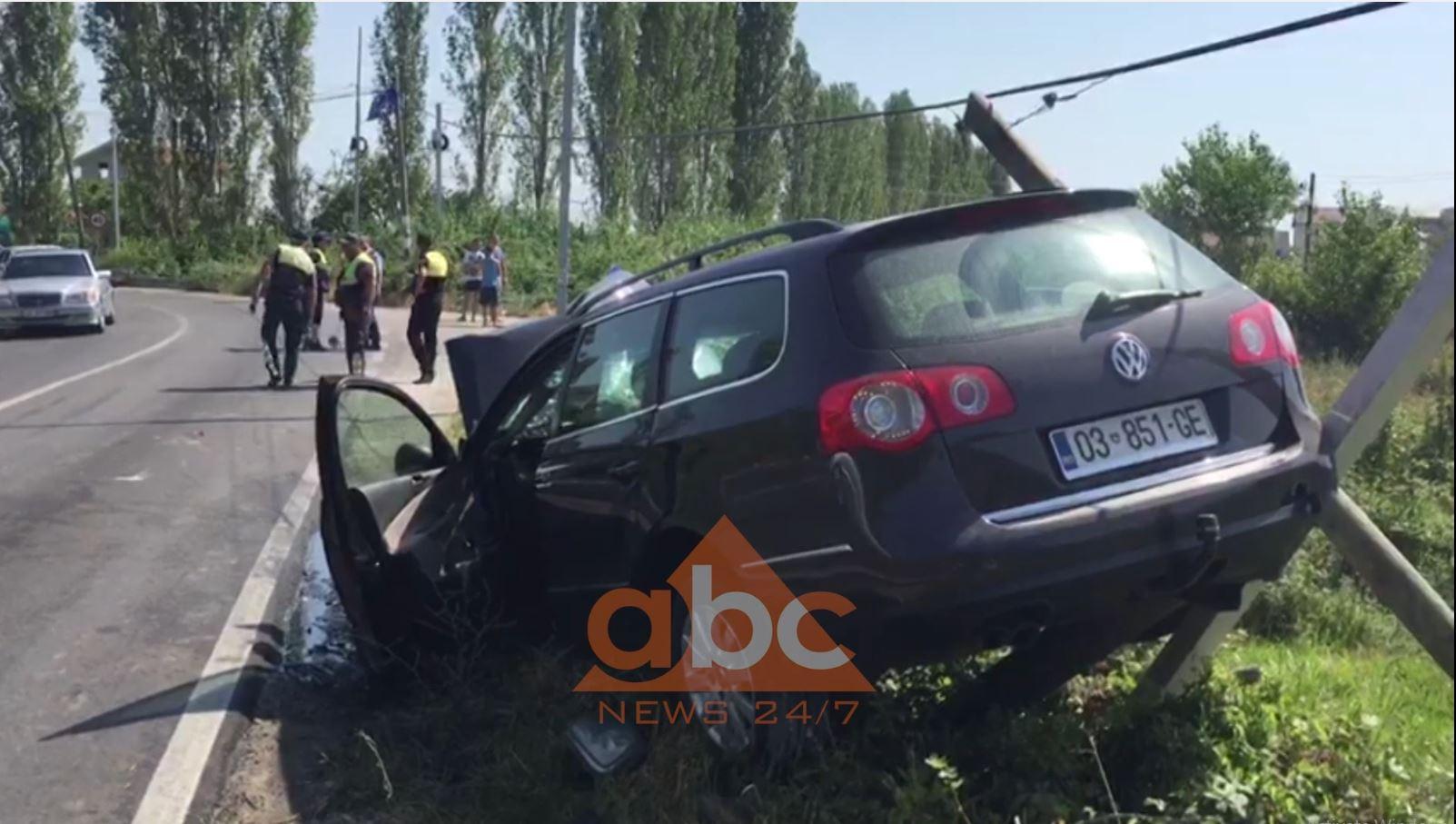 Përplasen dy automjete në Shëngjin, 4 persona të plagosur