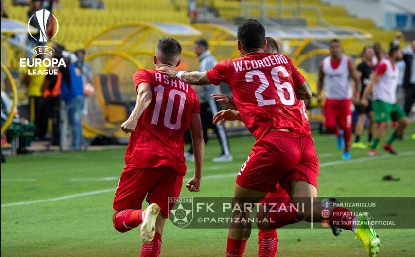 Partizani përfundon aventurën në kupat e Evropës