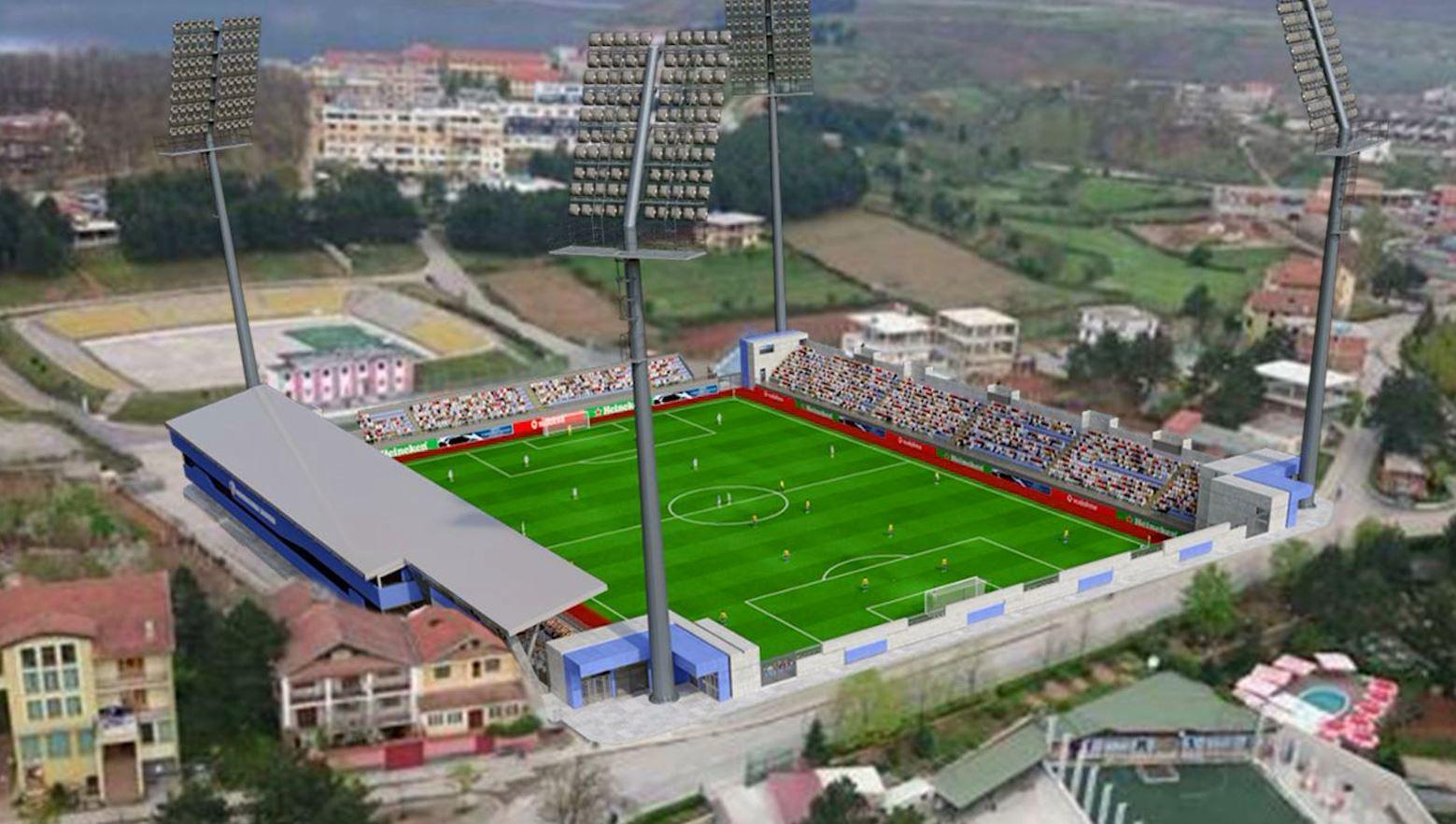 4 mln euro për rikonstruksionin e stadiumit të Kukësit, nisin punimet