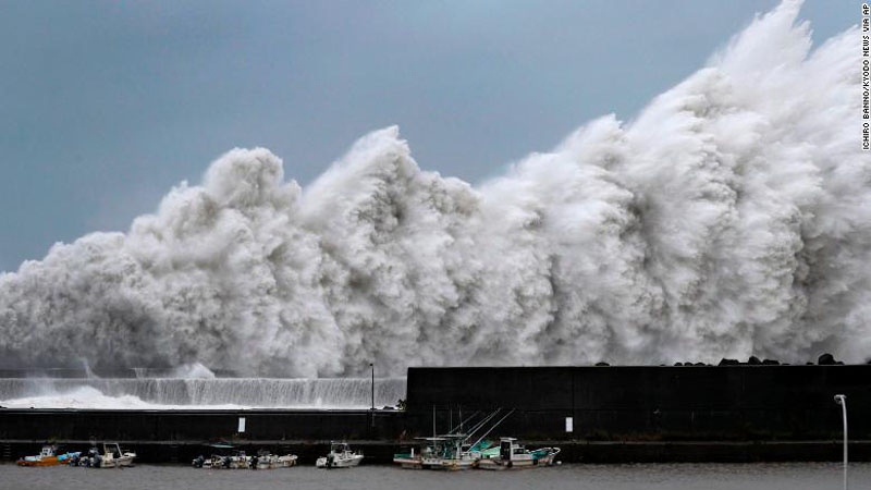 """Tajfuni """"Lekima"""" godet Kinën"""