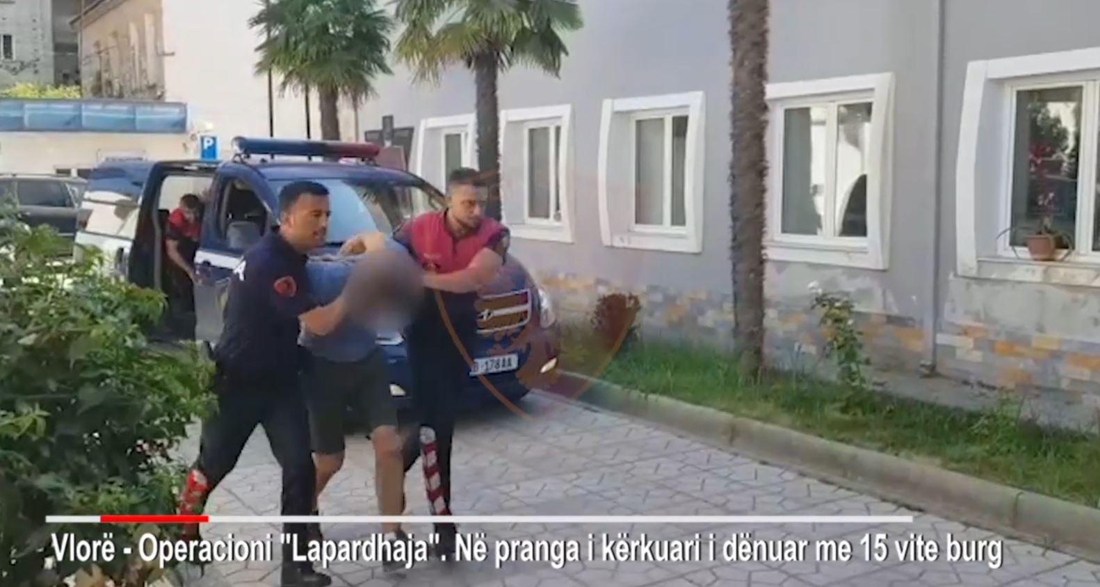 Vlorë, arrestohet 31-vjeçari i dënuar me15 vite burg