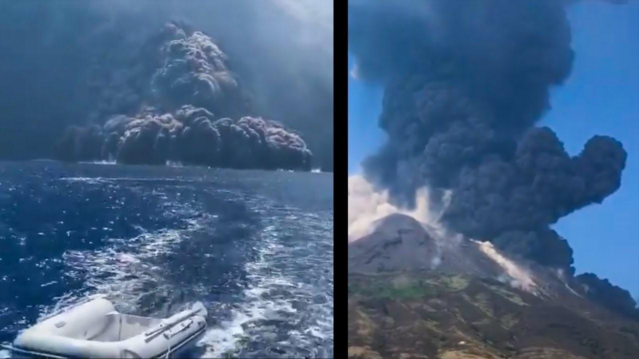Shpërthen vullkani në malin Stromboli në Siçili