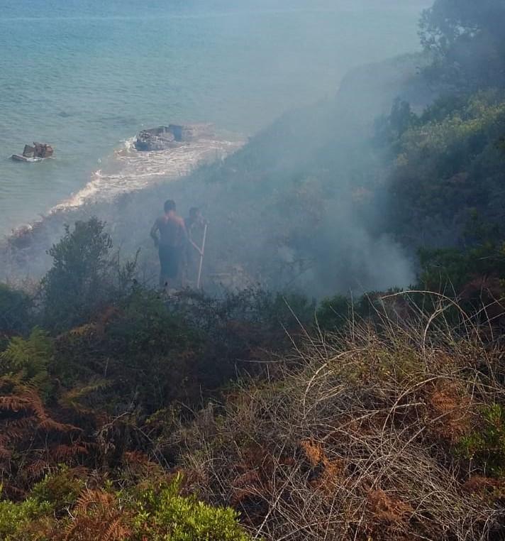 Zjarr në ishullin e Sazanit, forcat detare në gatishmëri
