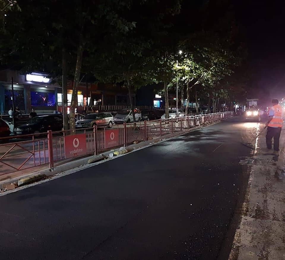 """Punime gjatë natës për mirëmbajtjen në rrugën""""Dritan Hoxha"""""""