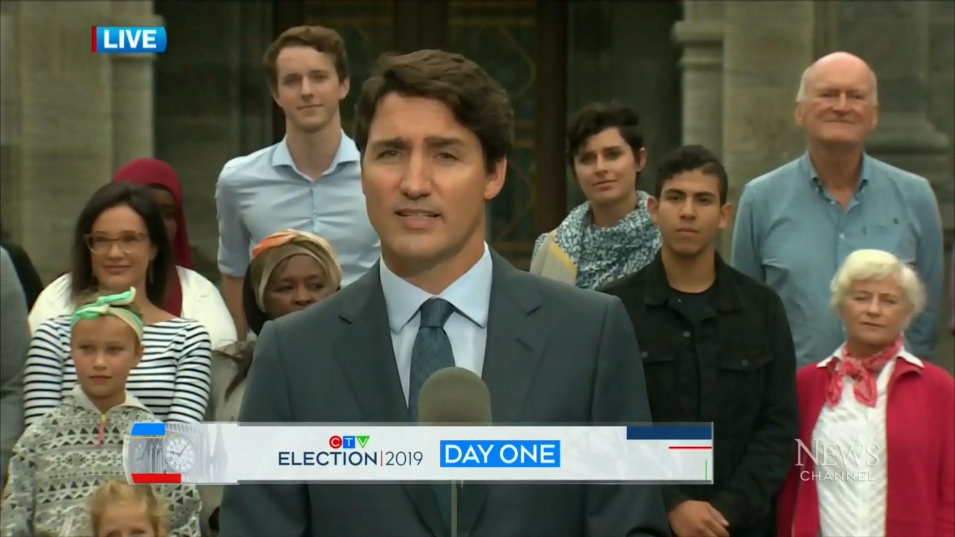Kanada, Trudo nis fushatën për rizgjedhjen