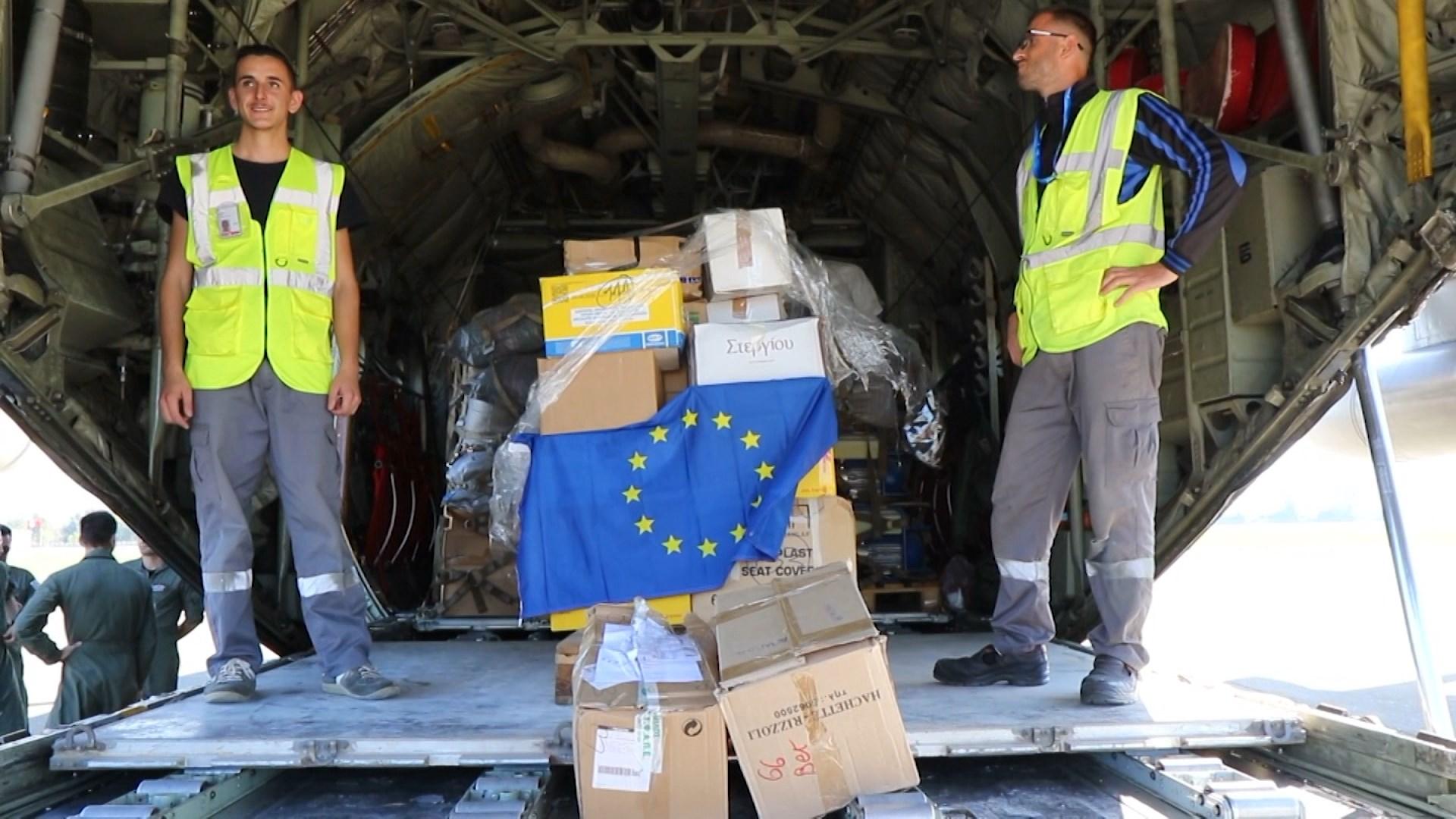 Mbërrin avioni me ndihma nga BE për familjet e prekura nga tërmeti