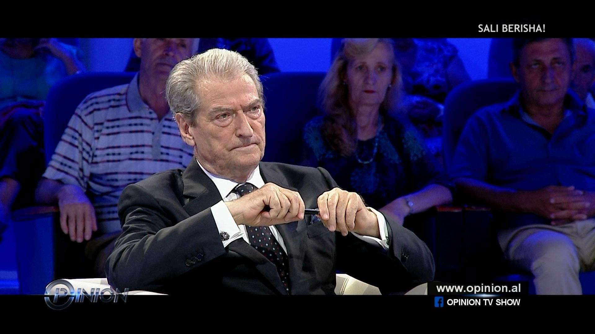 """Berisha në """"Opinion"""": Një koalicion Rama-Basha do të ishte atentat ndaj demokracisë"""