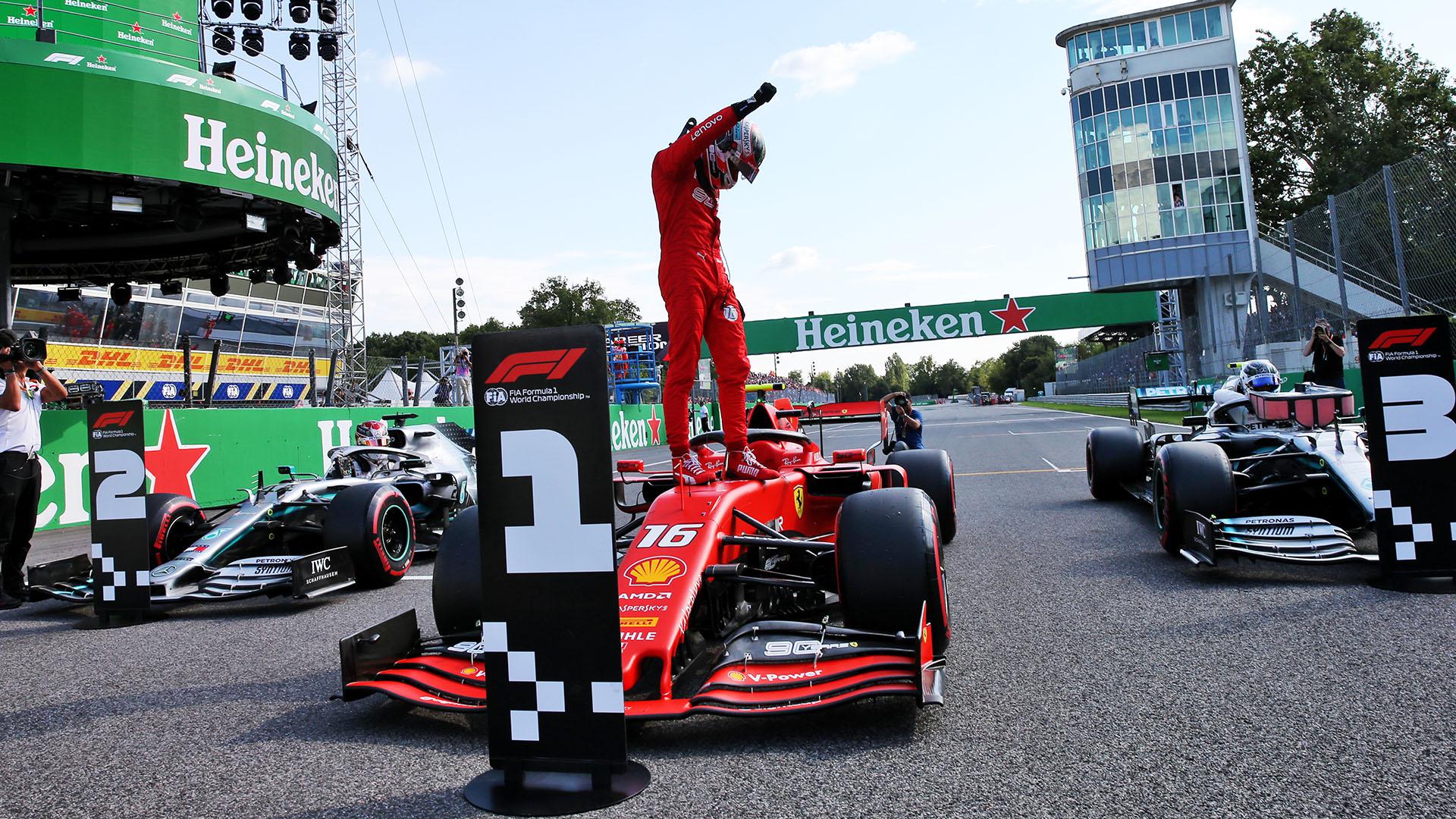 Leklerk rikthen Ferrarin fitues në Monza