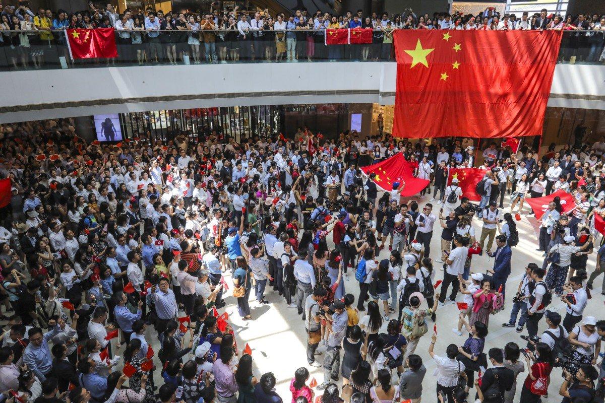 Protesta pro Pekinit në Hong Kong