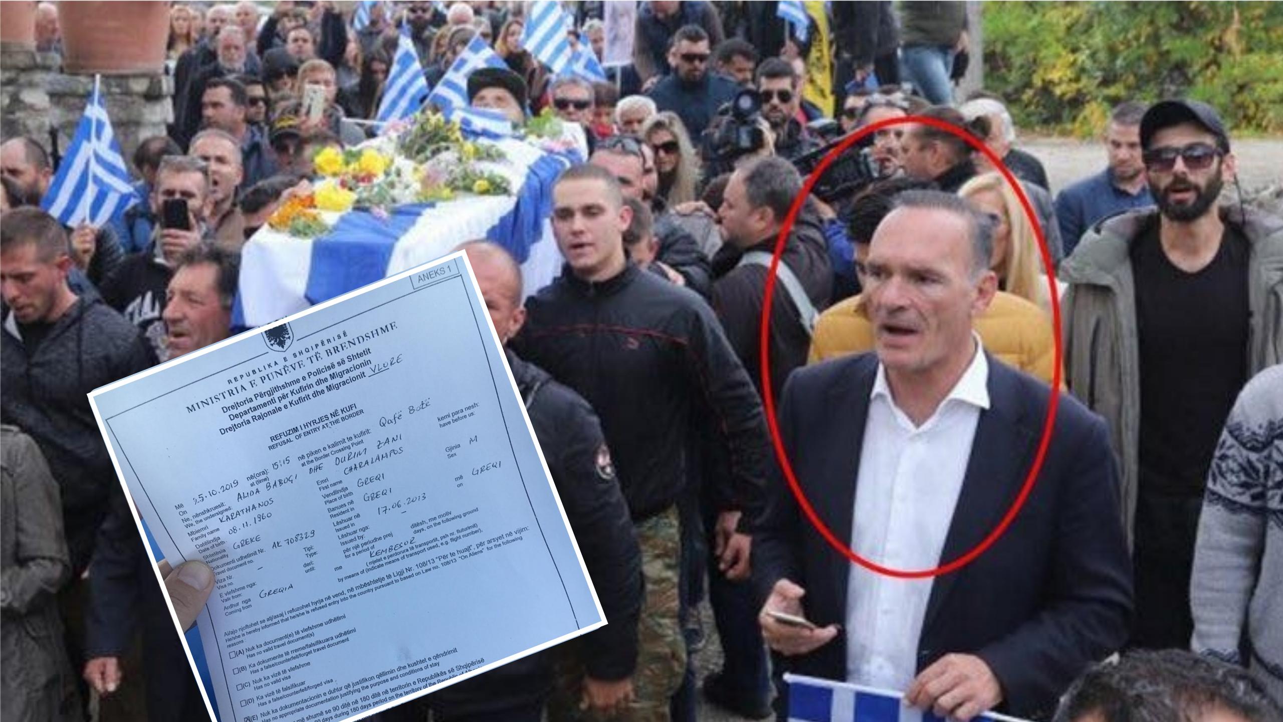 FOTO/ Del dokumenti, kështu iu ndalua hyrja në Shqipëri ekstremistit grek Babis Karathano