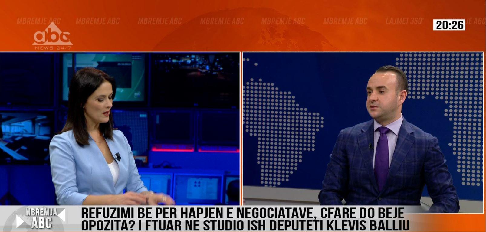 Balliu: Shqiptarët vuajnë për ujin e pijshëm ky do të hapë negociatat?!