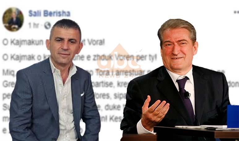 """""""O Kajmak o Kajmakli unë e zhduk Vorën për ty"""", postimi i Berishës për kryebashkiakun e Vorës"""