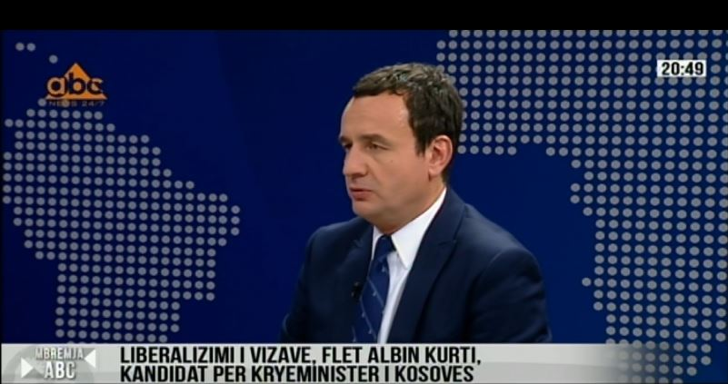 Kurti: Nuk jam unë ai që do sjell liberalizimin vizave, por Prokuroria speciale e Kosovës