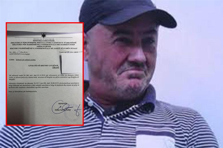 Ministria e Drejtësisë për Albert Veliun: Jemi në pritje të vendimit për ekstradim