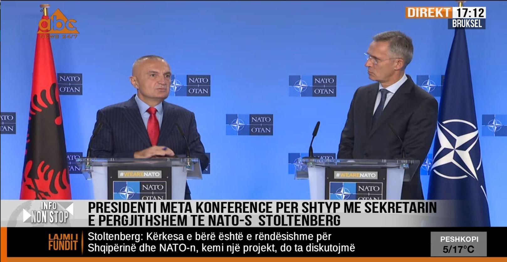 Stoltenberg: Nuk kemi plan për bazë detare të NATO-s në Pashaliman