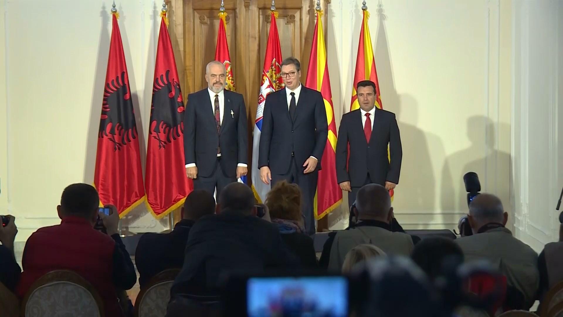Rama, Zaev dhe Vuçiç sot në Ohër në samitin për minishengenin ballkanik