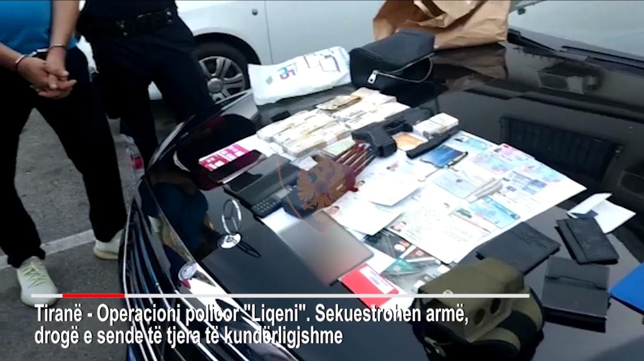 """Me super """"Benz"""", bllokues celularësh dhe çantën plot me para: Si u kap i riu në Tiranë (VIDEO)"""