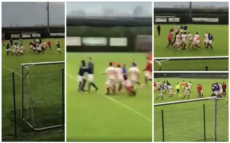 VIDEO/ Futbollistët shqiptarë ia nisin me grushta pasi arbitri dha 13 minuta shtesë