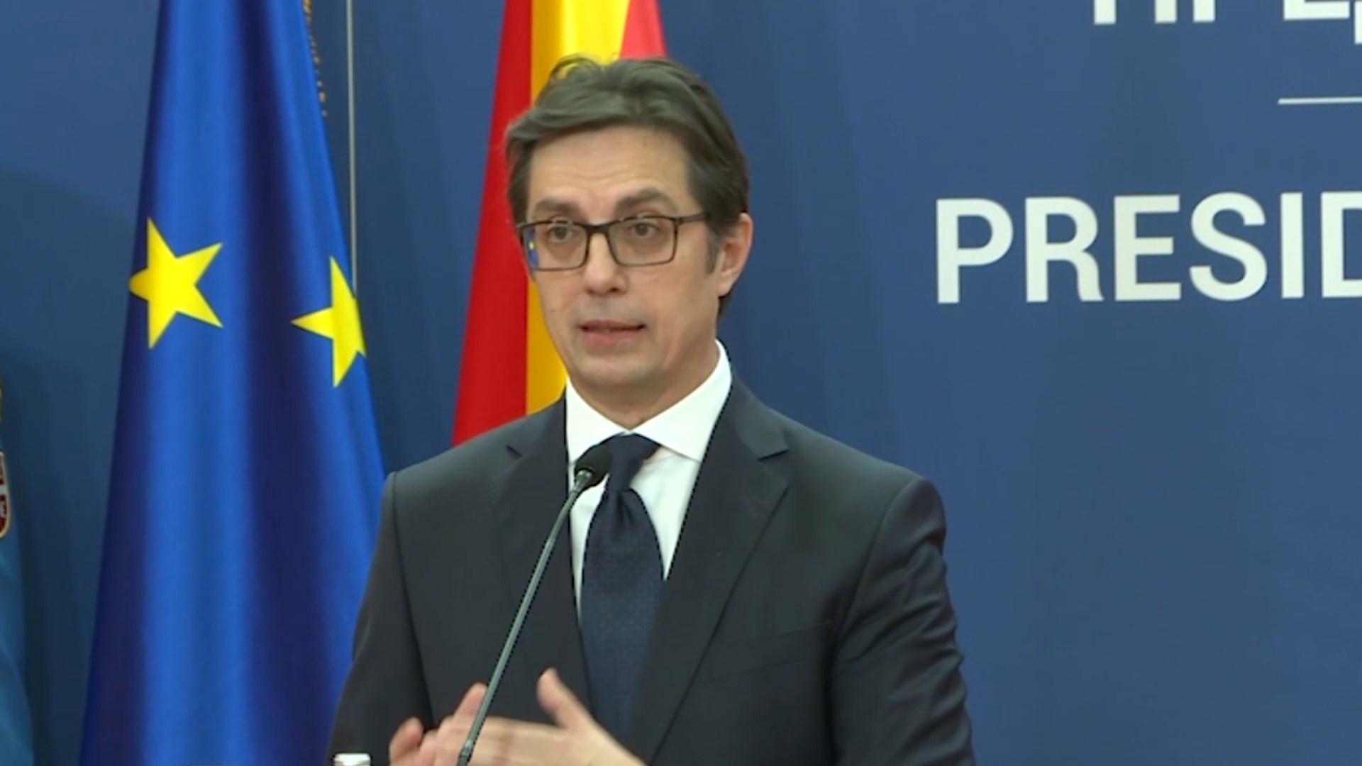 Pendarovski në Beograd: E ardhmja e Ballkanit Perëndimor është Bashkimi Evropian