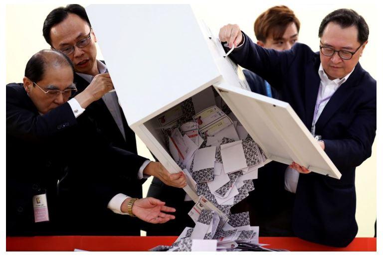 Zgjedhjet në Hong Kong, triumfojnë kandidatët pro demokracisë
