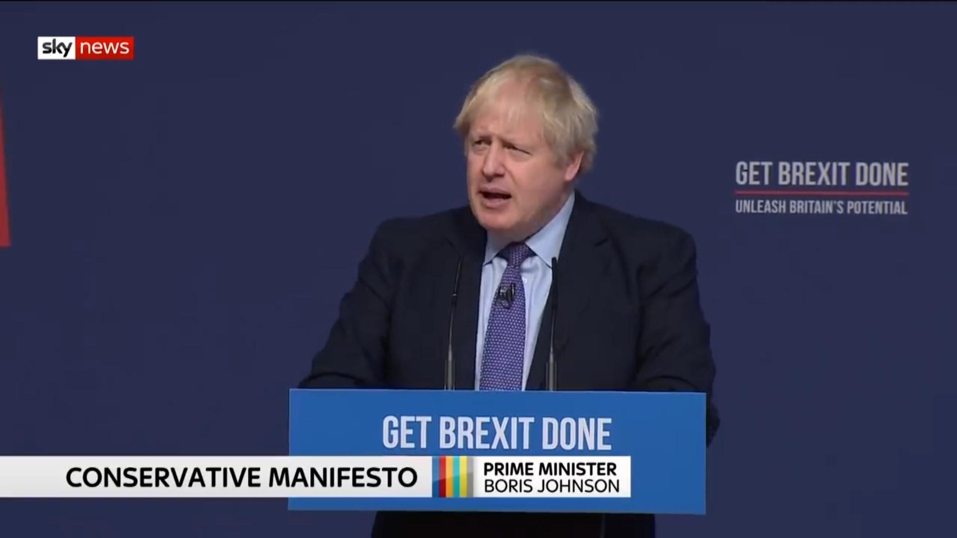 Boris Johnson prezanton platformën e tij për rindërtimin e Mbretërisë së Bashkuar