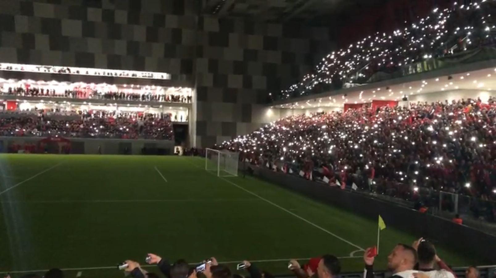 "Inaugurimi i ""Air Albania Stadium"", koret ""RAMA IK"" refren"
