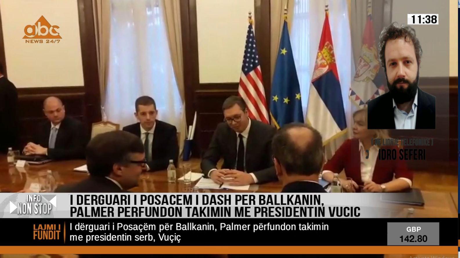 Përfundon takimi Palmer-Vuçiç, SHBA mesazhe të qarta në mes të Beogradit