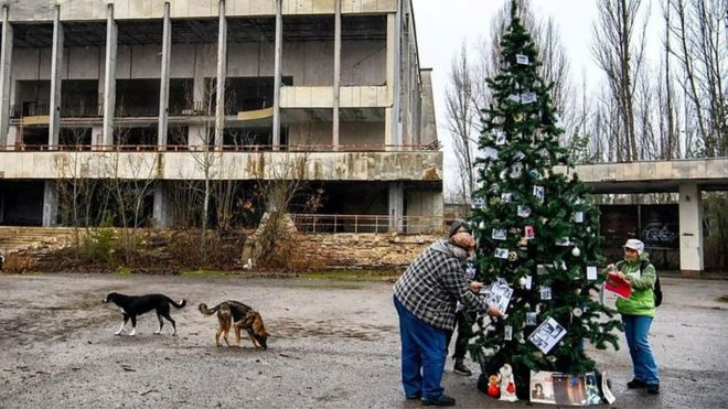 """Pema e Vitit të Ri rikthehet në qytetin """"fantazmë"""" të Çernobilit"""