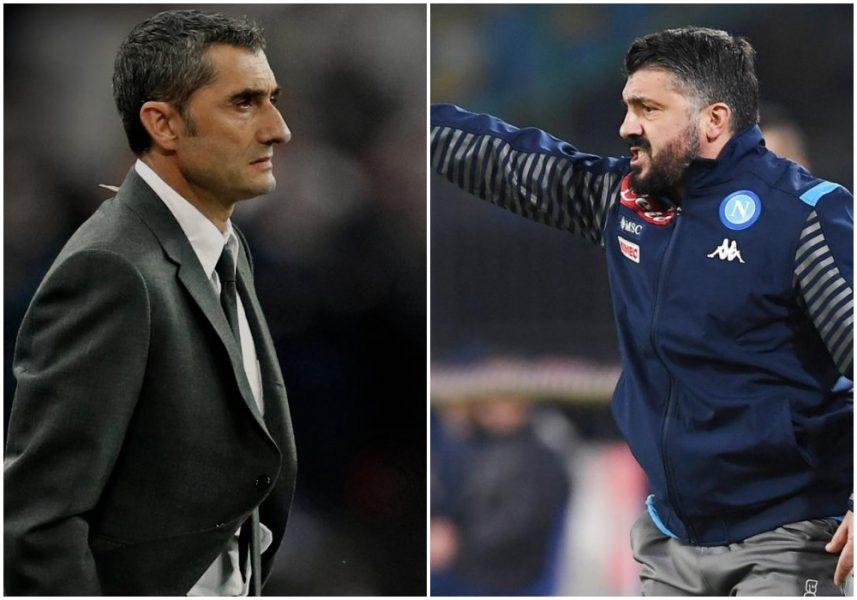 Dueli Barcelona-Napoli, reagojnë Valverde dhe Gattuso