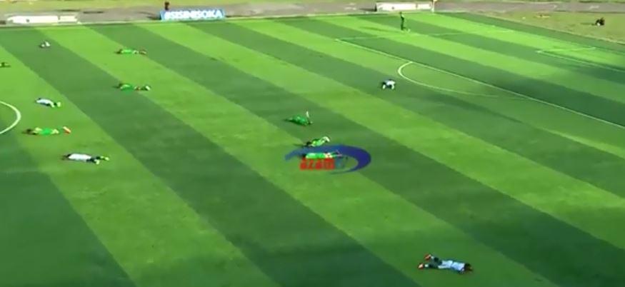 """VIDEO   E pazakontë: Një """"ushtri"""" grerëzash pushtojnë fushën, epik reagimi i lojtarëve"""