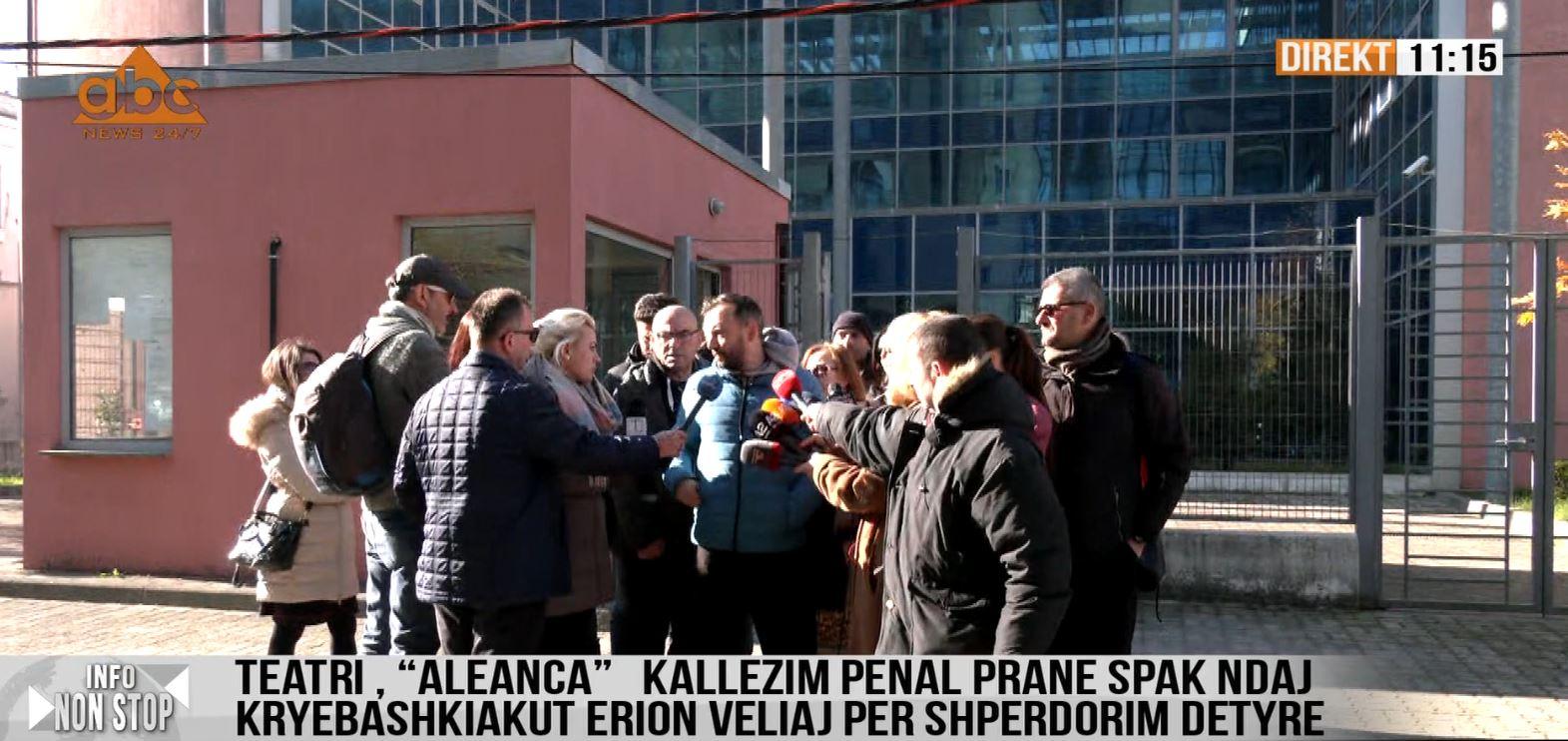 DOKUMENTI / Aleanca për Mbrojtjen e Teatrit: Kallzim penal për Erion Veliaj