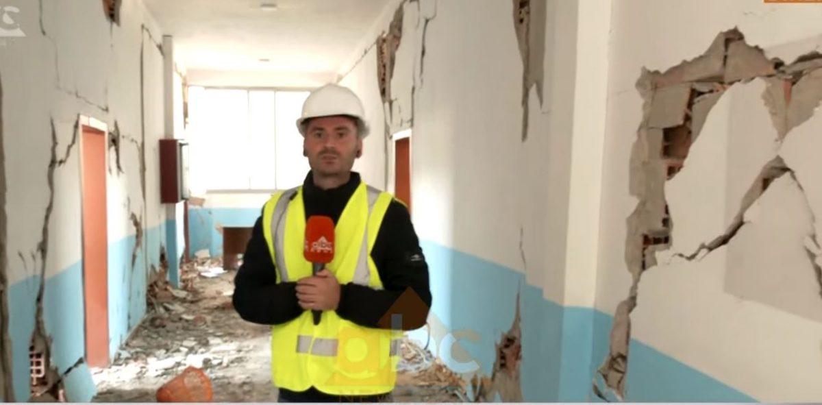 VIDEO/ E ndërtuar 8 vite më parë, shkatërrohet plotësisht shkolla në ish-Kënetë