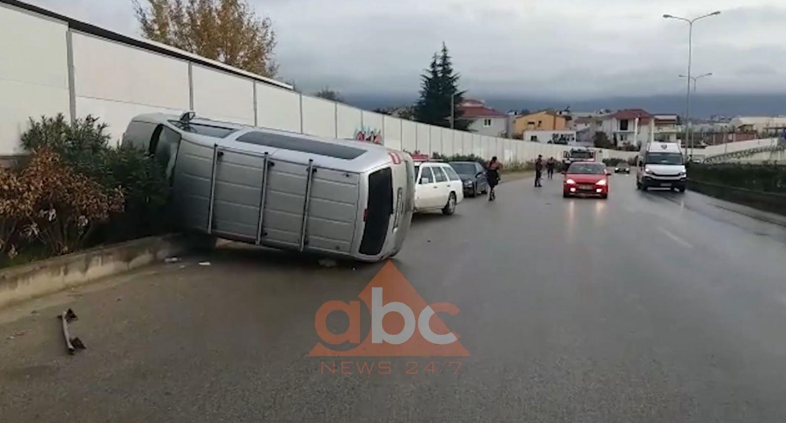 VIDEO /Aksident tek mbikalimi i Saukut në Tiranë