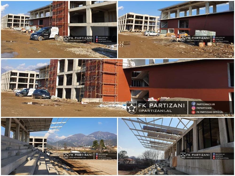 Mbulimi i tribunave dhe porta qendrore, stadiumi i Partizanit merr formë