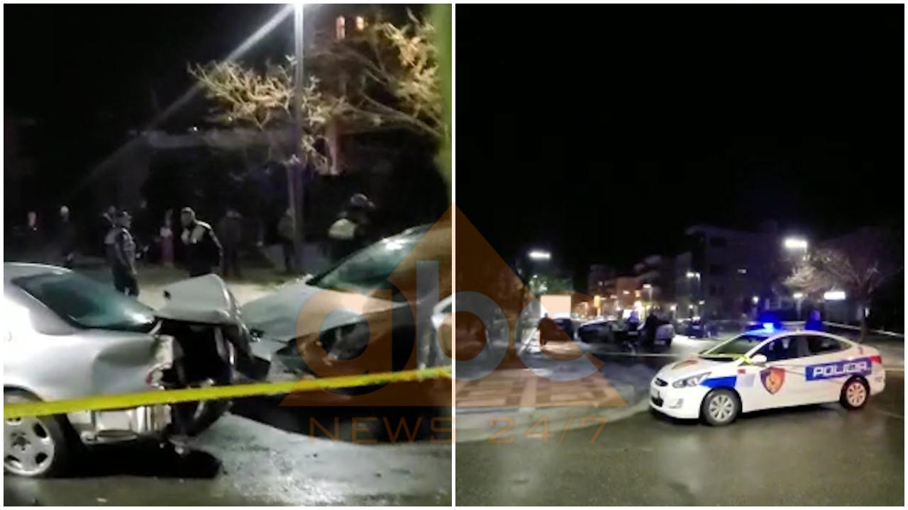 VIDEO/ Aksident i frikshëm në Vlorë, përplasen makinat në kryqëzim, tre të plagosur