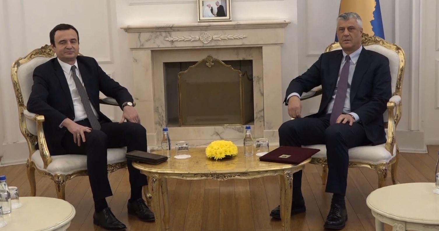 Skadon afati i Thaçit, Vetëvendosja: Emri i kryeministrit të ri do të dërgohet në ditët në vijim