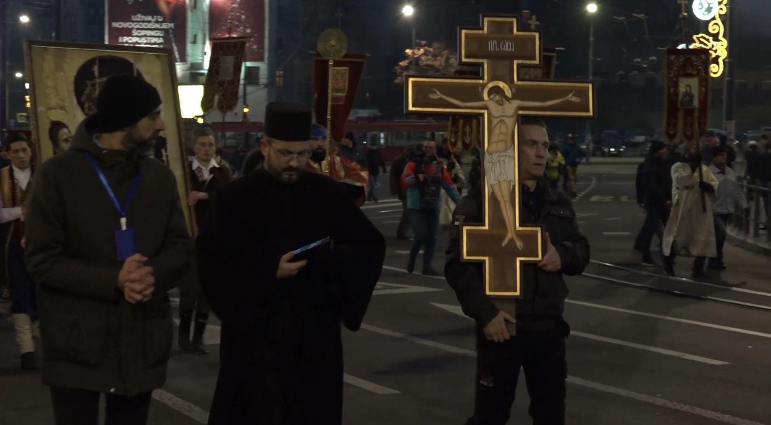 Marshim në Beograd kundër ligjit për liritë fetare në Malin e Zi